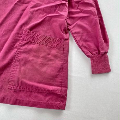 Collarless shirt pink