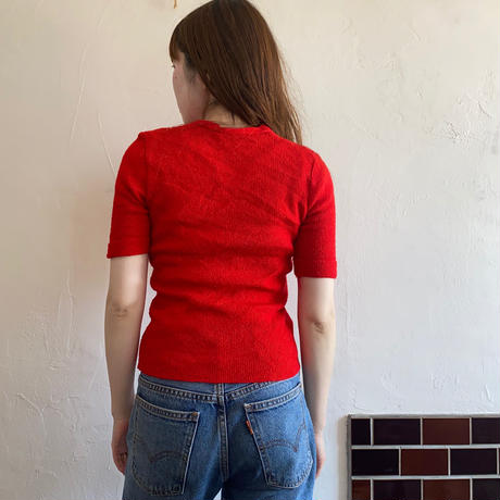 70s short sleeve cardigan