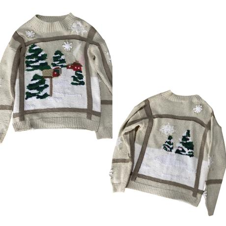 【SHINPIN fixed】Winter landscape embroidery sweater