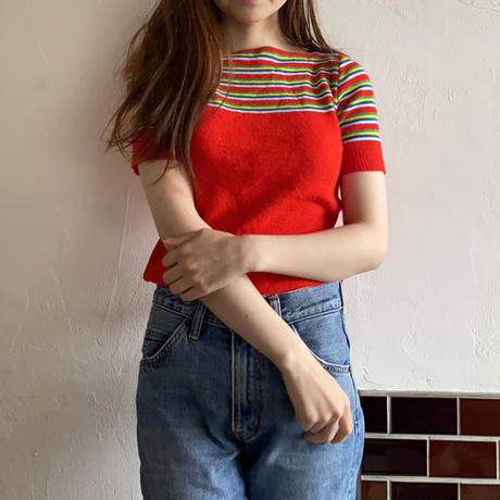 Multi color summer knit