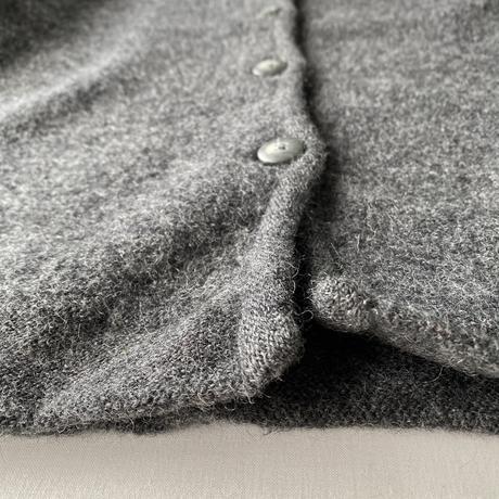 【SALE】Round collar wool cardigan