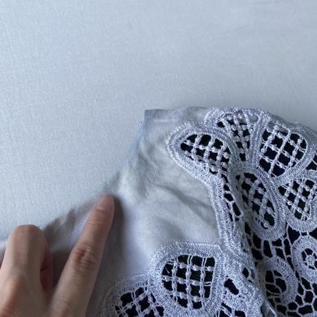 Green plaid lace collar dress