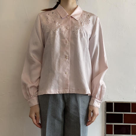 Light pink embroidery blouse