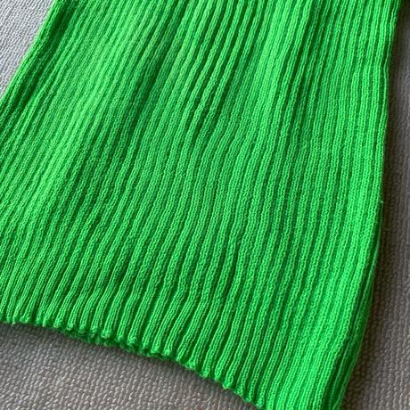 Neon green rib knit