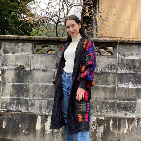 【SALE】Colorful long knit cardigan