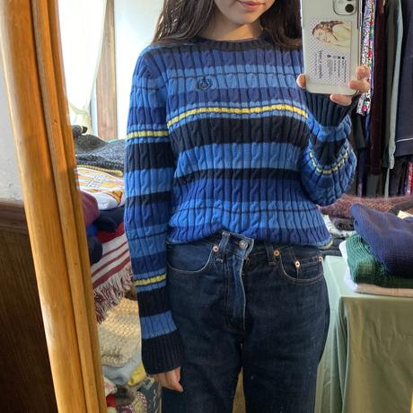 Preppy blue cotton sweater