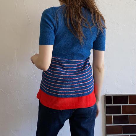 Pockets border summer knit