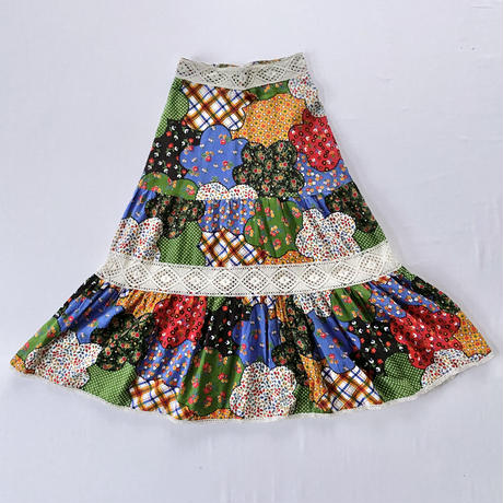 70s Colourful skirt