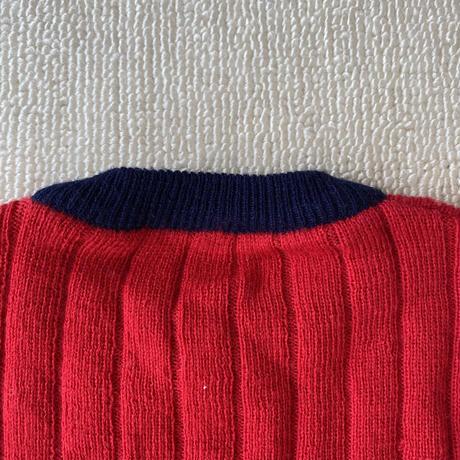 Red rib knit