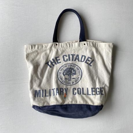 Militaly collage natural cotton bag
