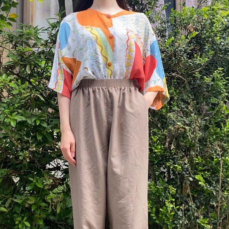 Made in Germany collarless long  blouse