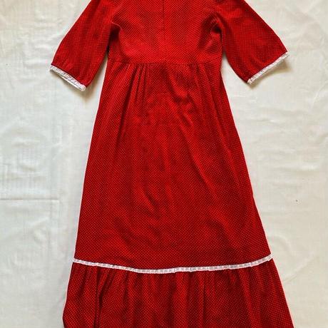 70s red dress