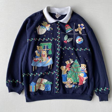 Made in USA Christmas bear pullover