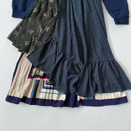 【SHINPIN×jane's vintage】Dots sweatshirt dress
