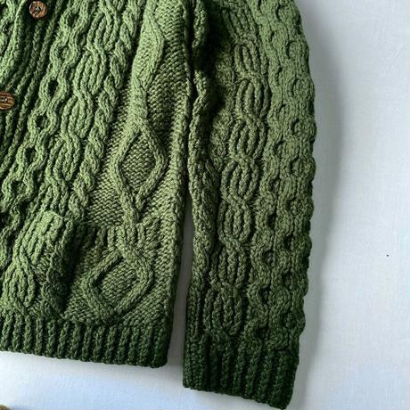 Green fisherman cardigan