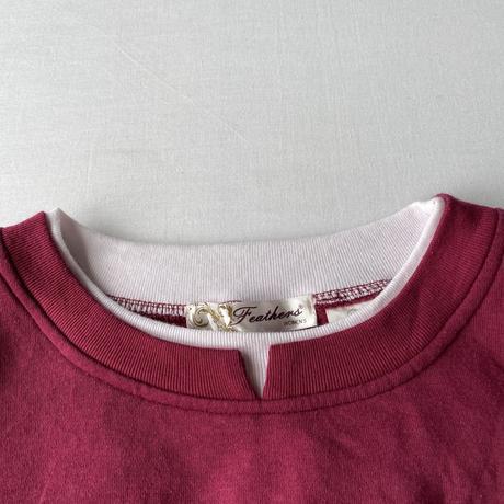 Over size embroidery sweatshirt