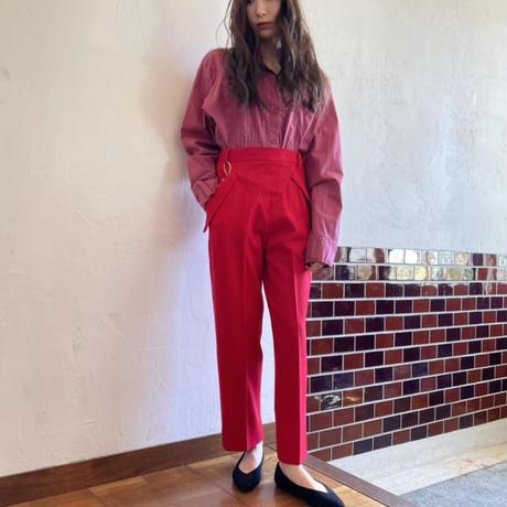 Unique pockets Red pants