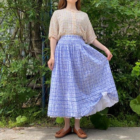 Tyrolean lace and ribbon skirt
