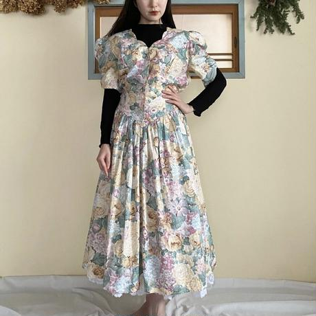 Made in USA 80s flower dress