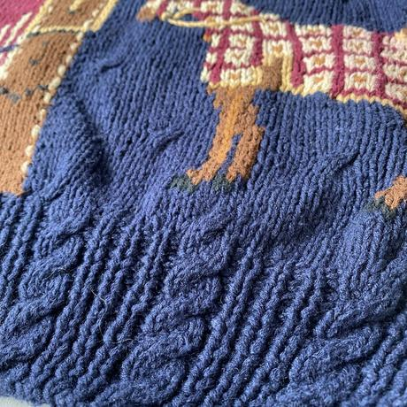 Cotton knit horse sweater