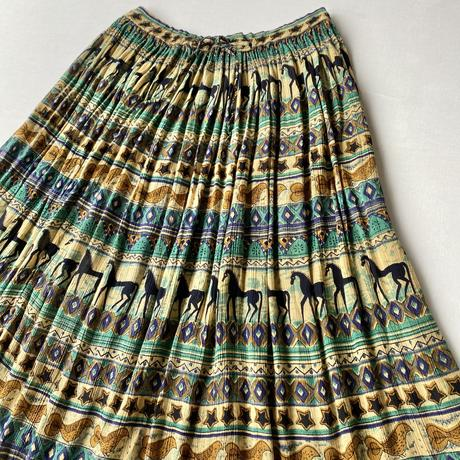 Made in India horse rayon skirt