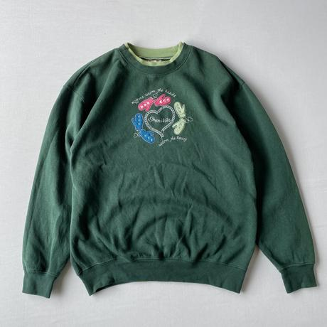 Mitten applique sweatshirt