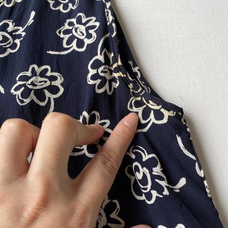 Made in Fraece flower sleeveless top