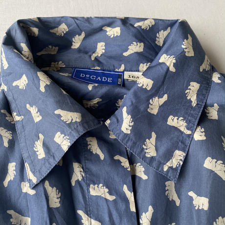 100% silk white bear shirt