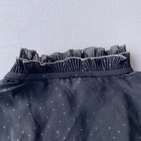Twinkle stars black blouse
