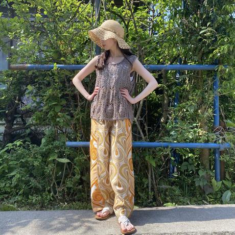 Handmade pants with 70s fabric (Ballon)