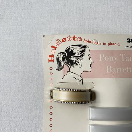 Made in USA 60s deadstock hair barrettes White
