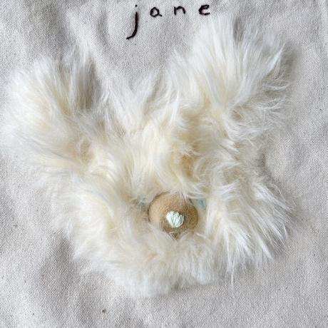 ponpon frappe×jane's vintage original sacoche White