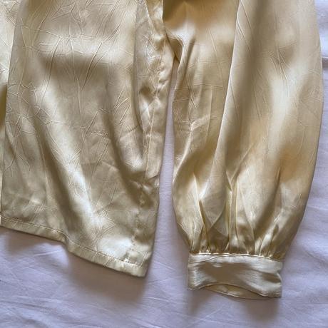 Gold gather blouse
