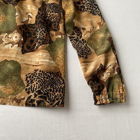 Wild print blouse