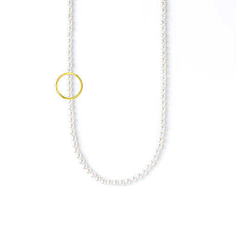 ATTACHMENT NECKLACE WITH PARTS CIRCLE S