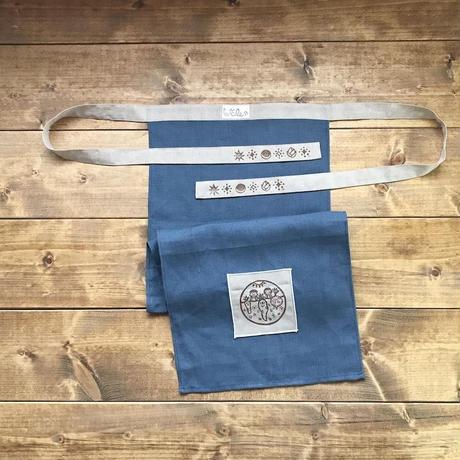 【ゆっくる】Men's リネンふんどし 紺 メンズフリーサイズ(YU005)