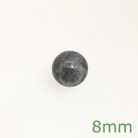 【粒売り】糸魚川翡翠 8mm 黒 4A E∫2543857∫4