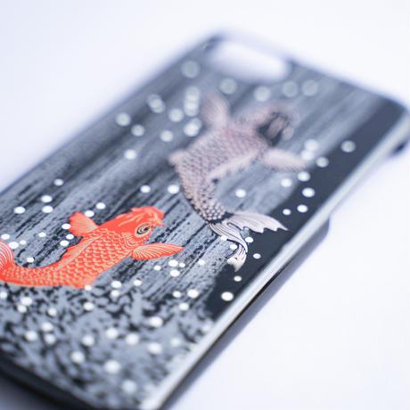 iPhone case 7/8/SE  鯉の滝登り Koi fish climbing against a waterfall