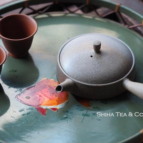常滑烧甚秋極平篇平急須 JINSHU Gokuhira Flat Teapot Initial Model Kyusu