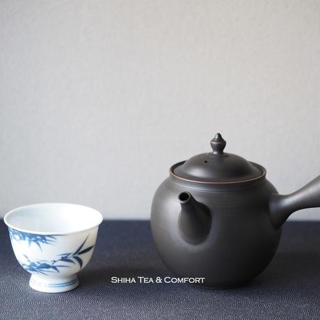 鯉江廣朱泥熏黑急須 Red Fine Clay  Smoked Handmade Ceramic Kyusu Teapot