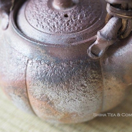 Bizen Pumpkin Upper Handle Teapot