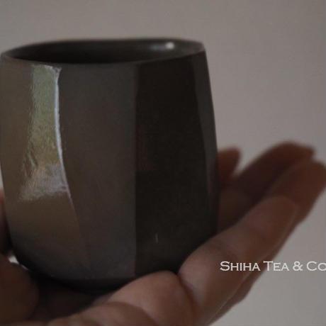 備前楽山 Blue Bizen Salt glazed Cups