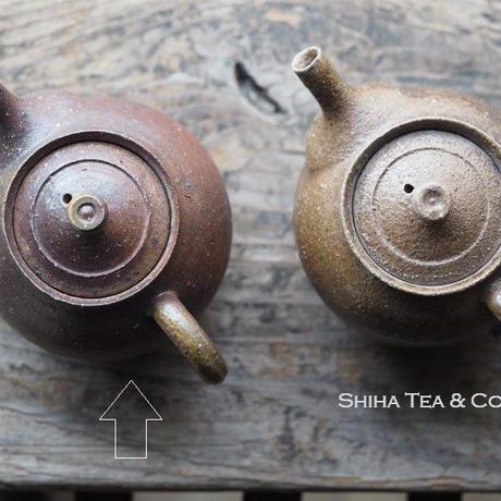 備前安藤騎虎柴焼急須茶壺  KIKO  ANDO Wood Fire Bizen Reddish Teapot