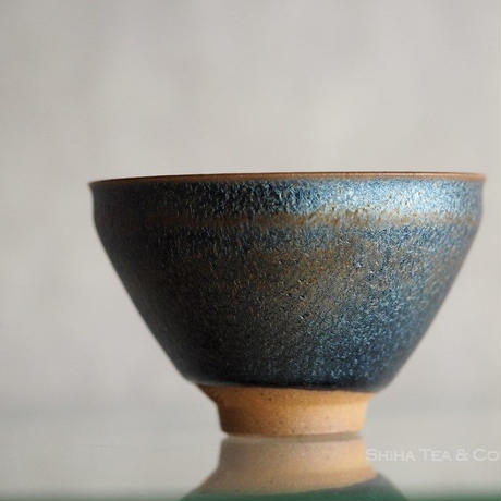 Midnight Blue  shiny sky small tea cup, from Kyoto Japan