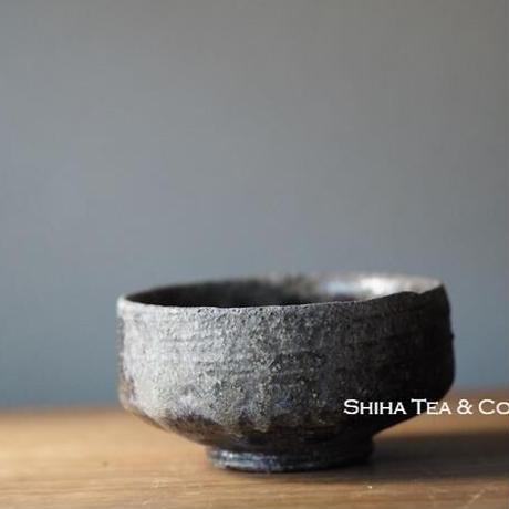 Wood Fired SUZU-YAKI Shinohara Black & Ash Cup 珠洲 篠原敬