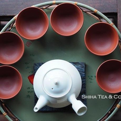 常滑烧北條昭和时代朱泥茶杯六件 HOKUJO red clay  6PCS