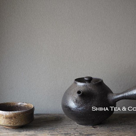 篠原敬珠洲柴烧黑陶茶壶急須 SHINOHARA TAKASHI SUZU TEAPOT Kyusu