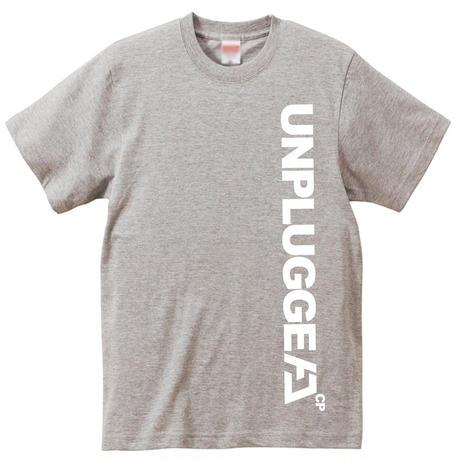 受注終了!THX!【予約:8月上旬入荷予定】 6デザイン× 7色 UNPLUGGED CAMP オリジナル半袖Tシャツ  その5 縦フルスペルロゴ   Ver