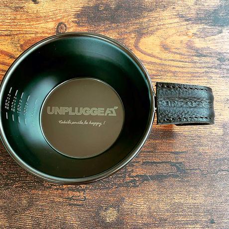 UNPLUGGED オリジナル ロゴ ブラックシェラカップとハンドルカバー 2点セット  SomAbito& LETHACT様 コラボギア【自社出荷:ヤマト宅急便コンパクト】