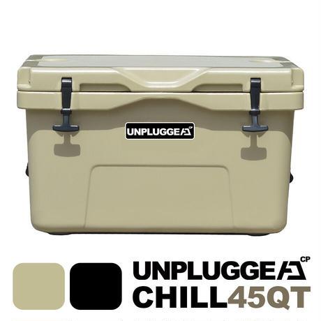 UNPLUGGED CP アンプラグドキャンプ オリジナルクーラーボックス CHILL 45 QT タン サンドベージュ